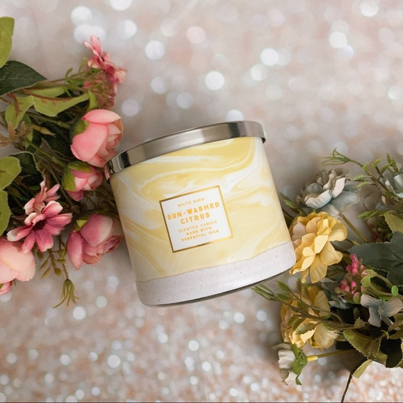 Bath and body work bbw candle sun washed citrus